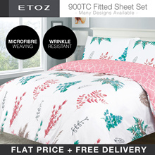 FLAT PRICE[ETOZ] 5 NEW DESIGNS! 900 TC Fitted Sheet Set★★Printed Bedsheet
