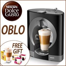 [Nescafe] Dolce Gusto Oblo / Free latte glass cup + 6 Capsules / COFFEE MACHINE / NESCAFÉ / DolceGusto