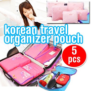[MUST HAVE] 5 in 1 BAGS IN BAG ** Travel Organizer Pouch ** | tas organizer