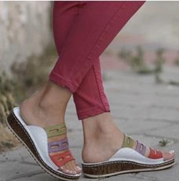 凉拖鞋 / 大码 / 厚底 / 坡跟 / 拼色 / 夏季新款 / 女鞋