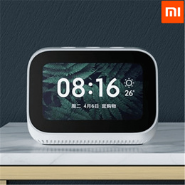Original Xiaomi AI Touch Screen Bluetooth 5.0 Speaker Digital Display Alarm Clock WiFi