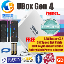 #Clearance Sale#Ubox Gen 4 PRO BT Free MX3 Air Mouse LAN Cable Battery Safety Mark SG Local Warranty