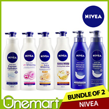 [NIVEA] • BUNDLE OF 2! Body Lotion 400ml  Intensive Moisture / Whitening / Hydration / Firming