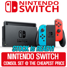 [SUPER SALE WEEKEND!] Nintendo Switch Console Super Bundle (Grey // Neon Red/Blue)