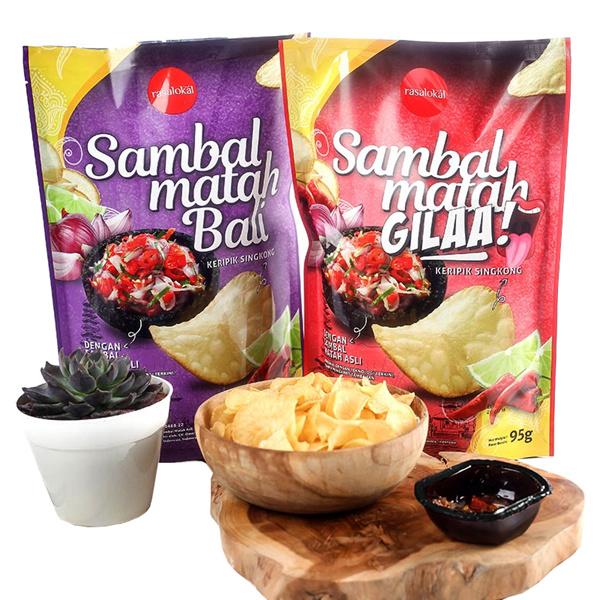 [Free Shipping] KERIPIK SAMBAL MATAH BALI Deals for only Rp62.000 instead of Rp62.000