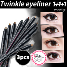 【Secret Key HQ Direct Operation】 ❤1+1+1❤Twinkle Waterproof Gel Pencil Liner 11 Kinds/Long Lasting