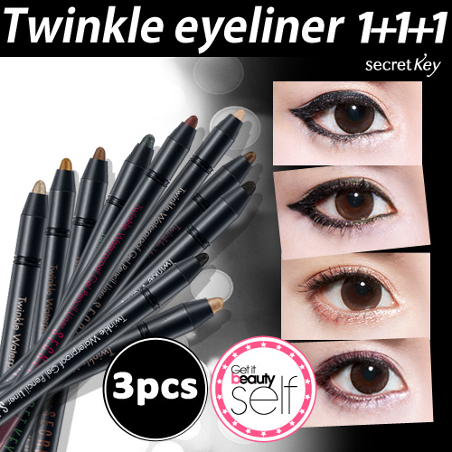 ?LOWEST PRICE GUARANTEE? ?1+1+1? Super Sale ONLY! Twinkle Waterproof Gel Pencil Liner 11 Kinds Deals for only S$26.5 instead of S$0