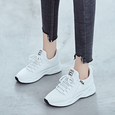 little white shoe girl 2019 new spring Korean Style hundred ins sports  daddy shoes women 2018 spring