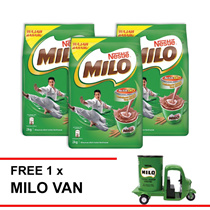 NESTLE MILO ACTIV-GO POWDER 2kg  Buy 3 Free 1 Milo Van