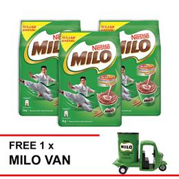 NESTLE MILO ACTIV-GO POWDER 2kg  Buy 3 Free 1 Milo Van