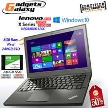 Lenovo Thinkpad T440 4GB 500GB X240 / X250 UPGRADED 8GB RAM with New WD 240GB SSD ( Refurbished )