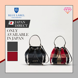 (Blue label crestbridge) Japan direct  shipping/ Crest Bridge Check Colon bag/bucket bag/cross bag/