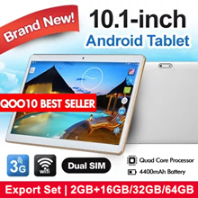CNY Sale-Cheapest in Qoo10-10inch Android Tablet|3G|WIFI[2GB+16GB/32GB/64GB]Export set/Brand New