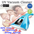 All Purpose UV Vacuum Cleaner Handheld Portable HEPA Filter Dust Mites Killer Bed Sheet Mattress