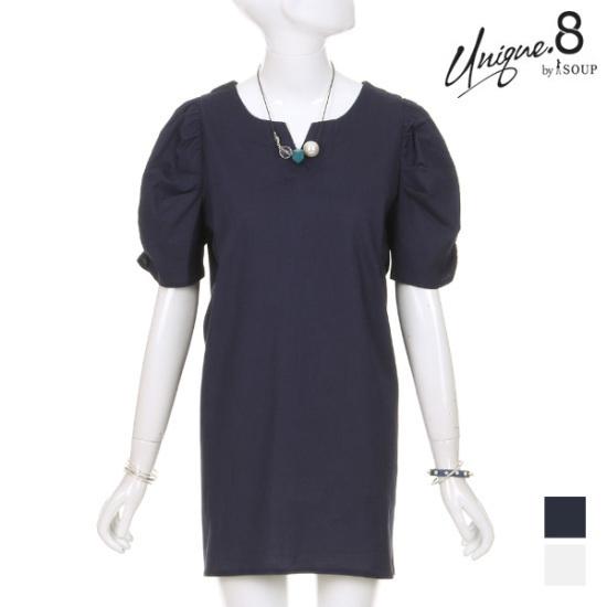 森SOUPキューティシャーリング・パフスリーブワンピースSTGOP13 面ワンピース/ 韓国ファッション