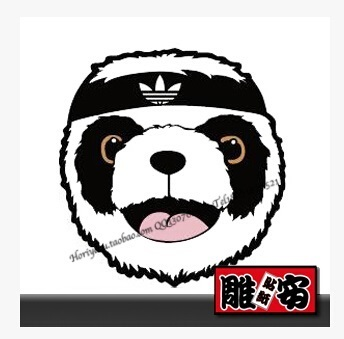 site réputé f97c3 0cfd5 ★ OVER S$10 SHIPPING ★ 274 # adidas panda trolley stickers laptop stickers  phone stickers Tide brand stickers