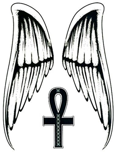 Qoo10 Tmi Angel Wings Cross Large Temporary Body Art Tattoos 9 X 7 Cosmetics