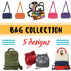 ★ BIG PROMO - all ready stock ★ 5 designs ★ Mickey Shoulder Bag/ Multi Purpose Bag / Canvas Backpack / Fashion Bag /Buckle Bag
