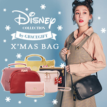 Gracegift-★XMAS BAG★Disney Mickey Minnie Shoulder Bags Handbags Backpacks Christmas Gift