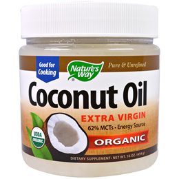 Natures Way Organic Coconut Oil Extra Virgin 16 oz (454 g)