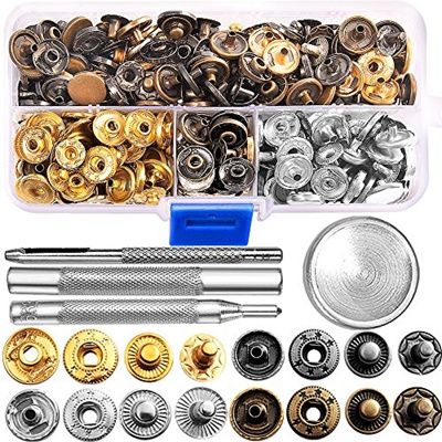 69 Sets Snap Fastener Kit Button Tool Press Studs Fastener Snap on Set  Clothing Snaps Kit Fixing Too