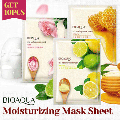 GET 10 Pcs! Bioaqua Moisturizing Mask Sheet Deals for only Rp29.000 instead of Rp74.359