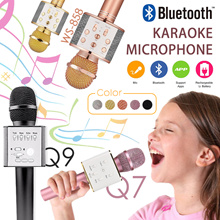 Ready Stock Q7/Q9/WS-858 Wireless Bluetooth KTV Karaoke Microphone USB KTV Speaker Upgraded versio