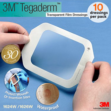 3M(TM) Tegaderm(TM) Transparent Film Dressings 1624W / 1626W) 10 dressings per pack/Wound Care