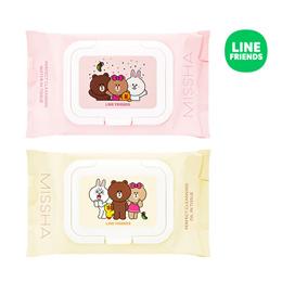 [MISSHA] LINE FRIENDS Super Aqua Cleansing Tissue Special Edition - 1pack (30pcs)