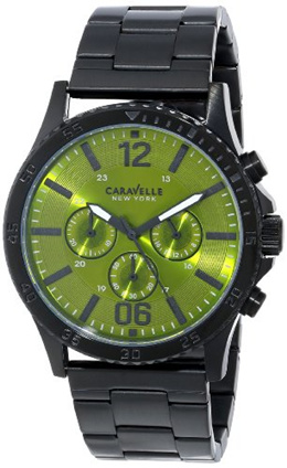 88e510ea168 Bulova Caravelle New York Mens 45A107 Analog Display Japanese Quartz Black  Watch