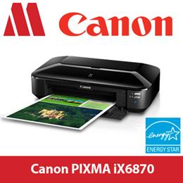 Canon Pixma Ix6870 5 Ink Color Inkjet Printer Iso Standard Print Sd