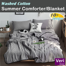 ★ Washed Cotton★【Summer Blanket/Summer Comforter/Thin Quilt] Machine washable! Cheap n good!