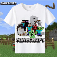 Minecraft Periphery My World T-shirt Coolie Anime Shortsleeves