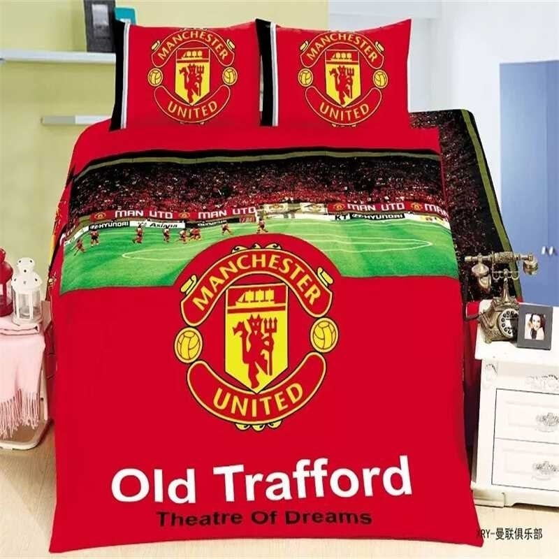 Qoo10 Bedsheet Mu Manchester United Man Utd Old Trafford With Quilt Cover Household Bedding