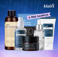 Apply 20% Coupon[KLAIRS] Angry Skin Calming Package/ klairs toner vitamin drop serum cream blue cream blue sample 5