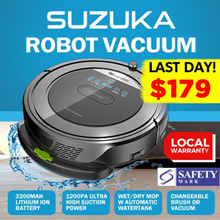 [INTRODUCTORY OFFER!] ★ PROSCENIC SUZUKA ROBOT VACUUM w WATER TANK 5-in-1★ SG AGENT WARRANTY★ NOW $179!!