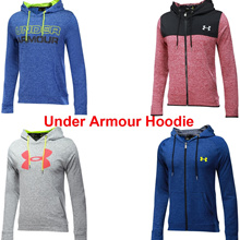 Under Armour Hoodies Men Jacket Sport Sweater with hat Full Zip Hoodie