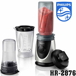 Philips Daily HR-2876 Mini blender 0.6L stainless steel Button type Detachable blades 350W