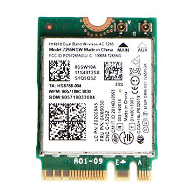 (Andiny) Andiny T450s Intel 2x2ac+BT4 0 7265NGW M 2 WiFi Card ,FRU 00JT464  For Lenovo Thinkpad-