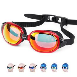 Whale Professional brands Waterproof silicone Swimming glasses Anti-Fog UV swim goggles for men wome
