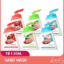 [10x215ml] Lifebuoy Hand Wash Germ Protection Anti Bacterial Total 10 / Cool Fresh / Nature
