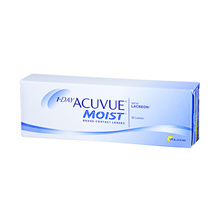 Johnson and Johnson 1-Day Acuvue Moist Brand Contact Lenses with Lacreon BC 8.50mm (30pcs/box)