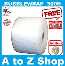 Air Bubble Wrap Roll  Bubblewrap Polymailer Carton Boxes Pallet Delivery  300FT (91.44M)