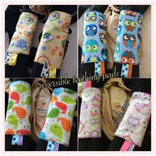 Dmiki Handmade Reversible Baby Carrier Teething Pads/teething pad drool pads tagged baby carrier