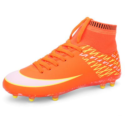 8e3724042 store Men Soccer Shoes Indoor Futsal Shoes with Socks Professional Trainer  TF Football Boot High Ank
