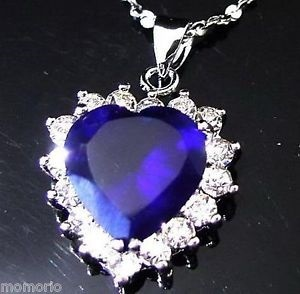 Qoo10 titanic pretty heart of the ocean big czech blue crystal titanic pretty heart of the ocean big czech blue crystal pendant necklace mozeypictures Choice Image