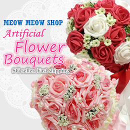 [SG SELLER]artificial flowers /Flower bouquet/bride / Rose/ Anniversary/ Gift/ ROM