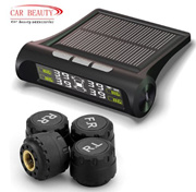 Smart Car TPMS Tyre Pressure Monitoring System Solar Power charging Digital LCD Display Auto Securit