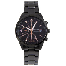 Seiko SNDV57P1 SNDV57 SNDV57P Quartz Black Dial Chronograph Female Casual Watch