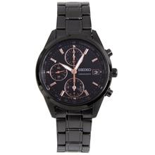 Seiko SNDV57P1 SNDV57 SNDV57P Quartz Black Dial Chronograph Female Casual Watch